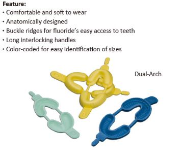 Fluoride foam trays - Disposable- (S/M/L)       pack of 50  $13.75
