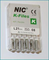 Ni Ti 'K' files NIC brand $8.90